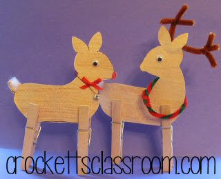 Pattern and directions for making these standing reindeer.