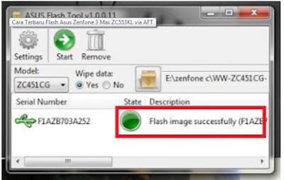 Cara Flashing ASUS Zenfone MAX (ZC550KL) Dengan Mudah VIA ASUS Flashtool 100% Berhasil