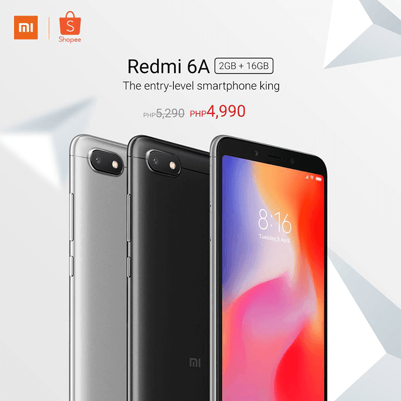 Sale Alert: Xiaomi Redmi 6A with 2GB RAM/16GB ROM is priced at PHP 4,990!