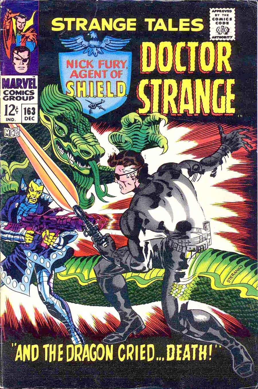 Strange Tales v1 #163 nick fury shield comic book cover art by Jim Steranko