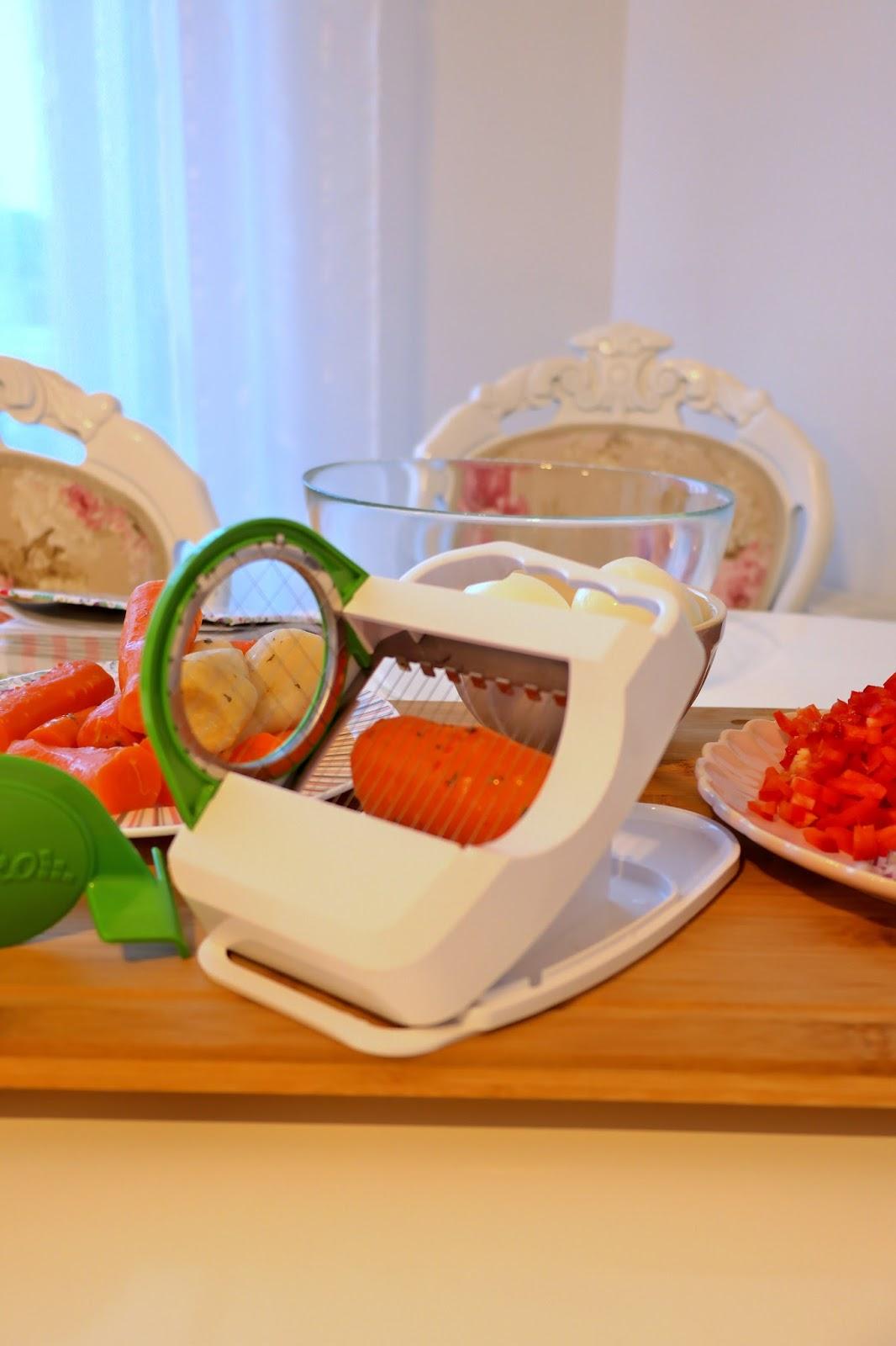 krojenie warzyw na sałatkę