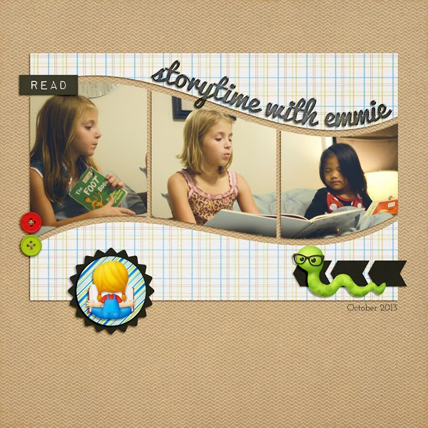 Storytime Digital Scrapbook Page