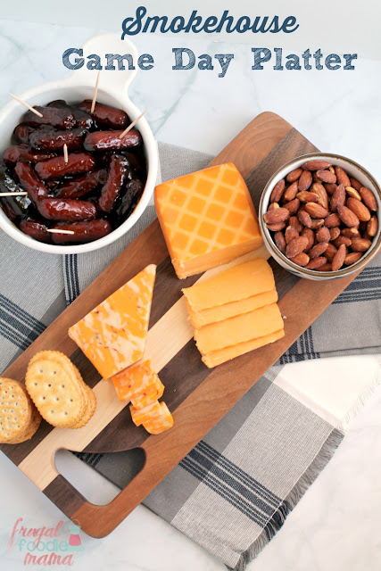 This simple and tasty Smokehouse Game Day Platter is sure to score a touchdown with your guests at your next football party or get-together.