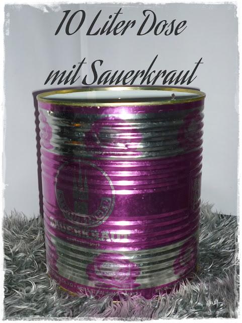 Leere Sauerkrautdose 10 kg