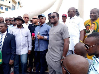 Gov Obiano Visits Old DMGS Roundabout Onitsha