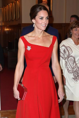 Kate Middleton steps out in dazzling £1,000 Preen dress (photos)