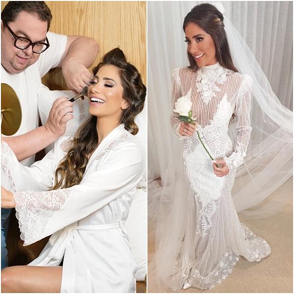 Casamento Alok vestido de noiva Romana