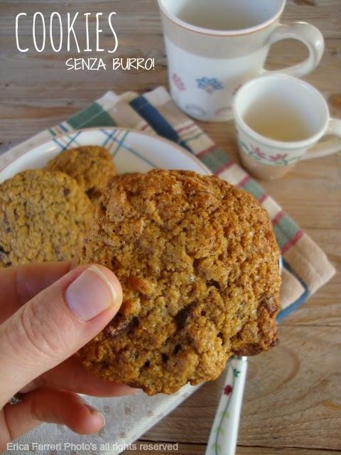 Ricetta cookies senza burro