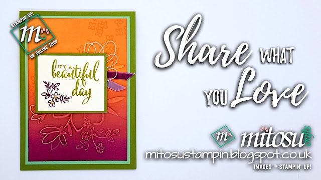 Stampin' Up! Share What You Love SU Card Ideas order craft supplies from Mitosu Crafts UK Online Shop