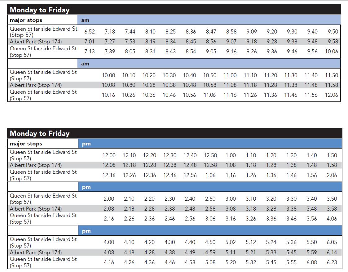 布里斯本-交通-免費-巴士-公車-時刻表-Timetable-旅遊-自由行-澳洲-Brisbane-Transport-Free-Bus-Loop-Travel-Australia