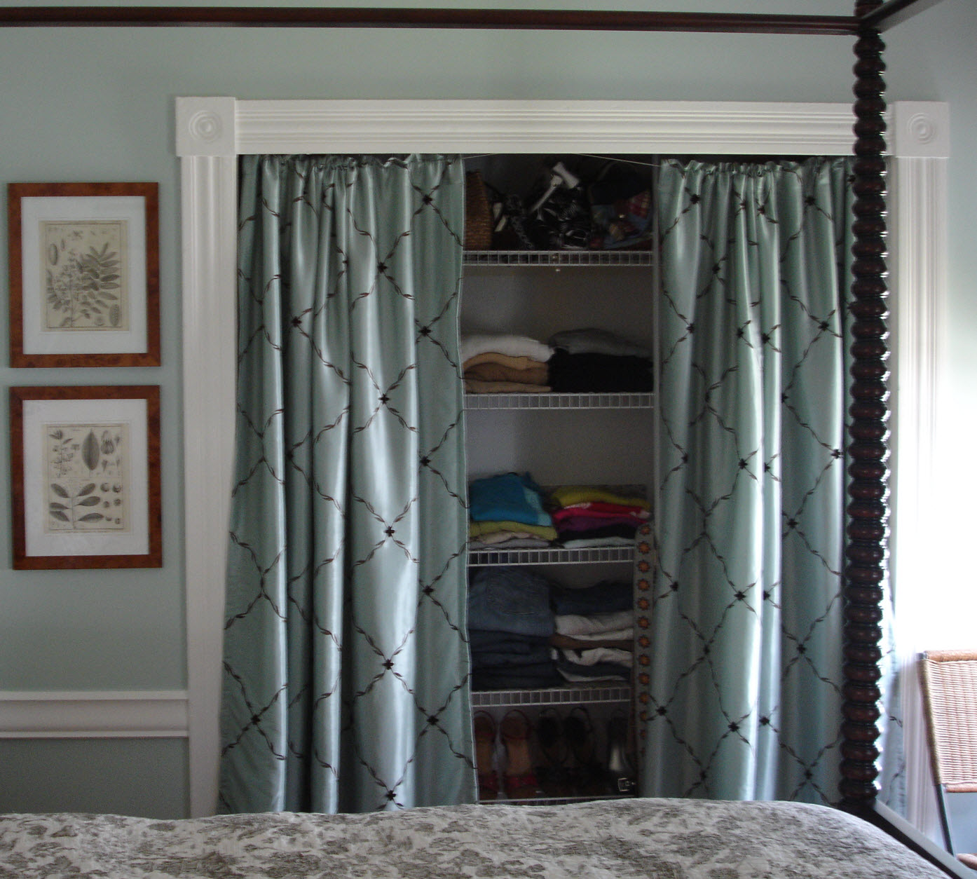 Fabric closet doors - B. B.