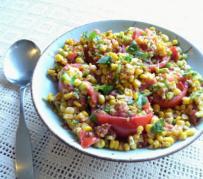 Chaat Corn Salad with Tomatoes