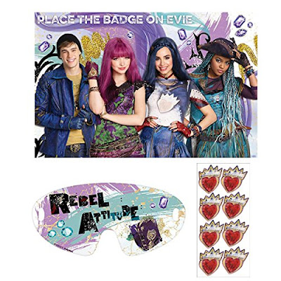Disney Descendants 2 party game-Pin the Badge on Evie
