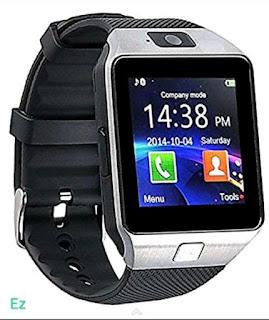 Square Dial Black Strap Bluetooth Dz09 Smartwatch