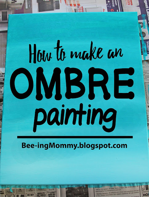 Ombre Canvas Painting Ideas : ombre, canvas, painting, ideas, Ombre, Painting, Tutorial,