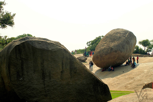 Krishna's butter ball - The Balancing rock of Mahabalipuram