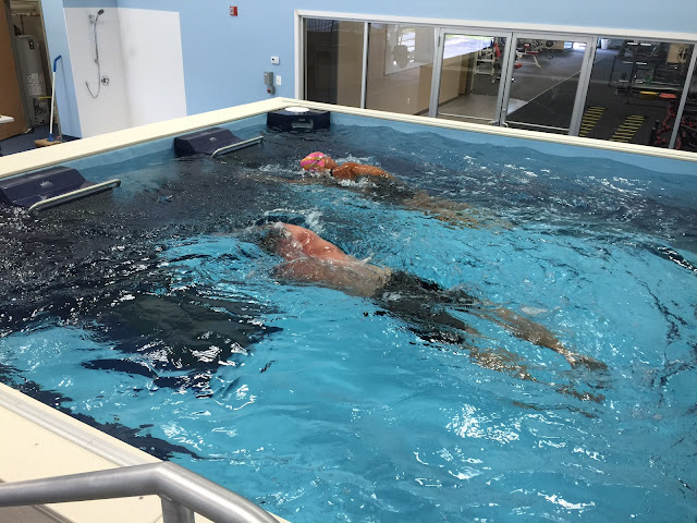Jay Stillman in the Dual Propulsion Endless Pool at ProSwim Fitness, Mt. Laurel, NJ