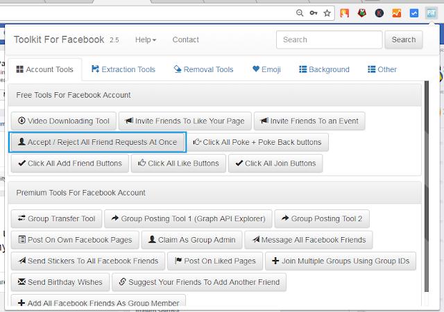 Cara Konfirmasi Semua Permintaan Pertemanan Facebook Sekaligus