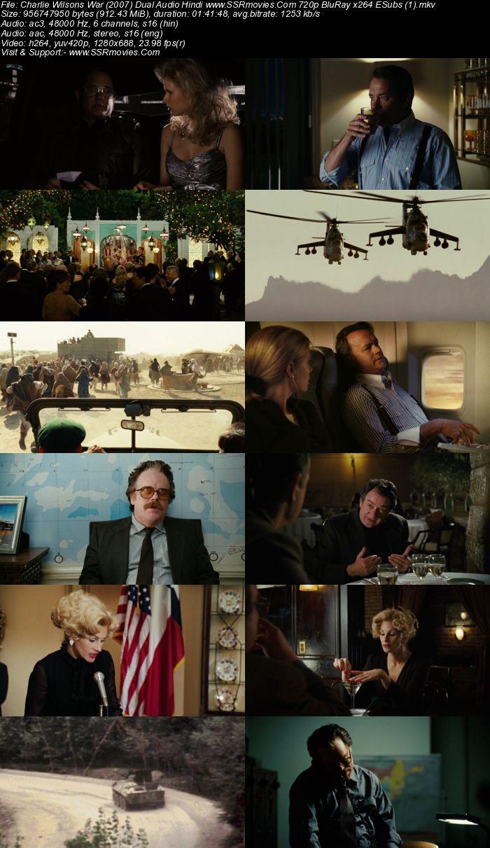 Charlie Wilsons War (2007) Dual Audio Hindi 720p BluRay 900MB ESubs Movie Download