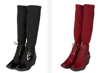Botas de color negro o rojo en oferta
