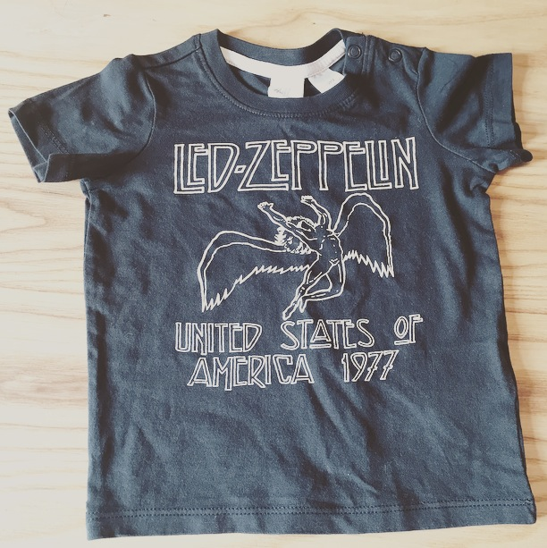 bb4e8c859c52 This Led-Zeppelin t-shirt is from H&M. I've heard that they do a cute baby  range but before Maverick I never looked. They've actually got loads of  shirts ...