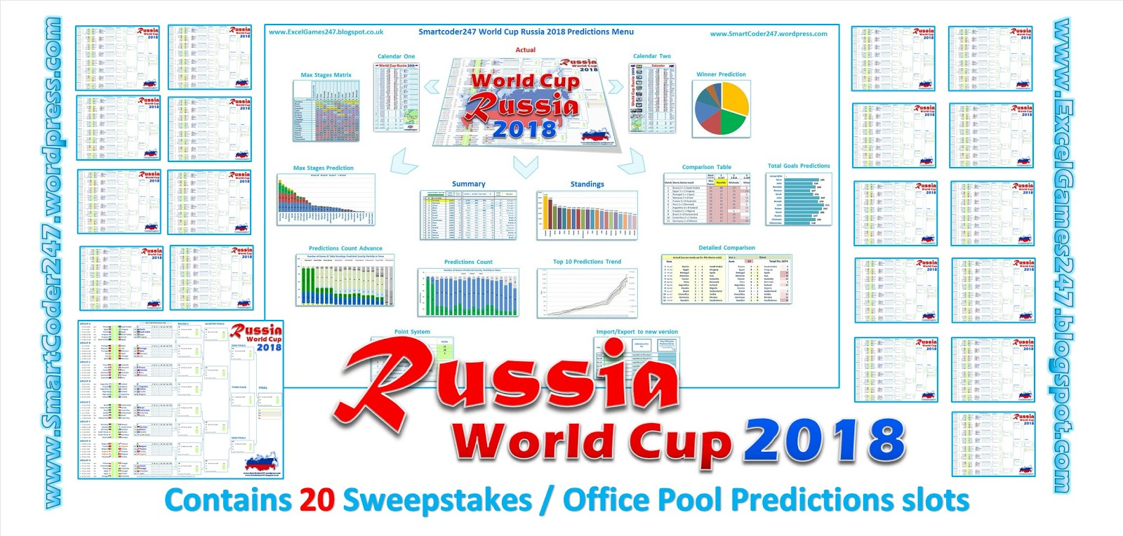 e42ae7d0f7 Smartcoder 247 - Russia 2018 World Cup Football Excel Templates
