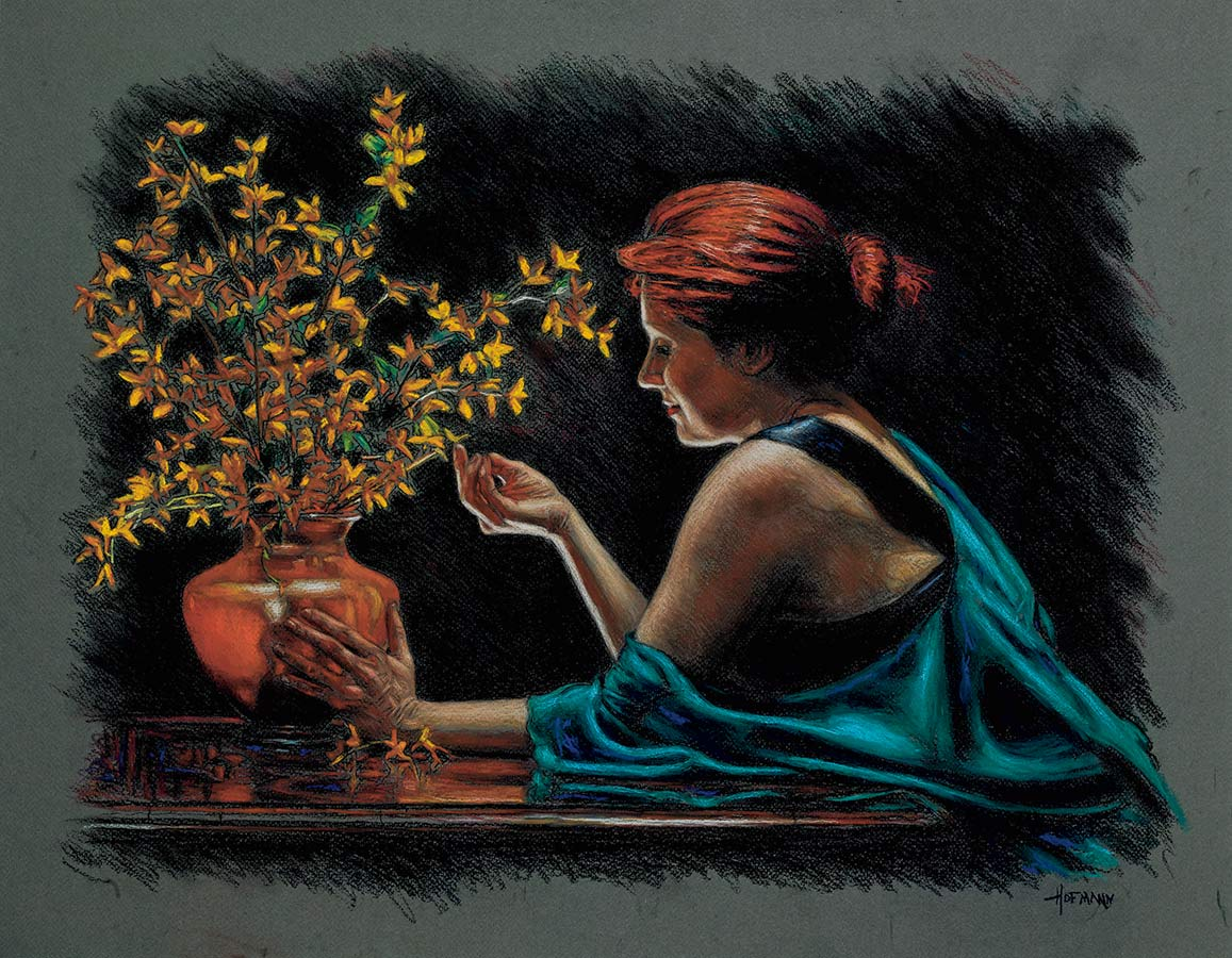Douglas Hofmann Woman with Flowers