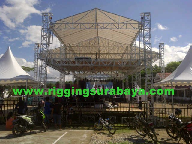 Rigging FOH dobel dek besi kotak hollow