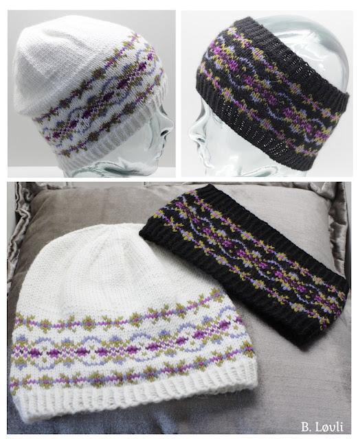 strikkeoppskrift på lue og pannebånd