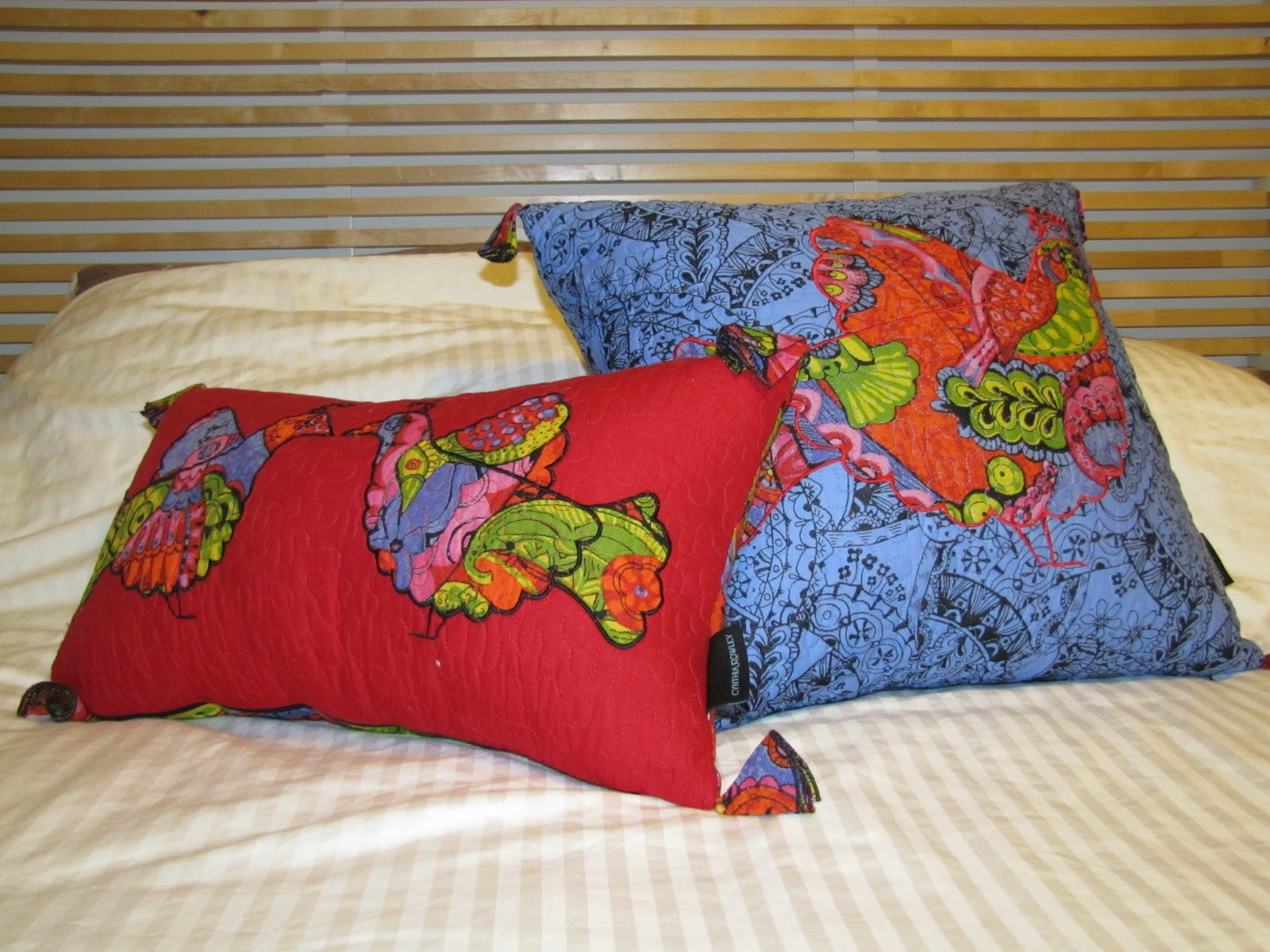 throwing paint on it: Cynthia Rowley Pillows and Rebecca ...