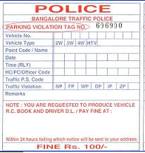 Parking Violation Tag