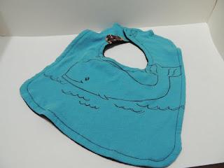 whale tshirt bib
