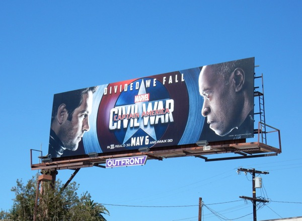Captain America:Civil War AntMan War Machine billboard
