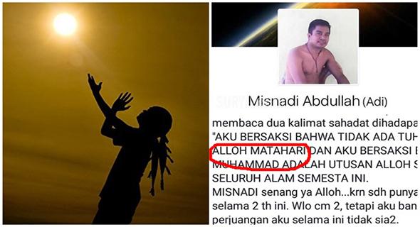 Misnadi Abdullah, Ketua Aliran Penyembah Matahari Yang Buat Geram Netizen