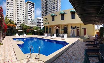 Hotel amira hoteles en salinas frente al mar ecuador for Hoteles con piscina en cuenca