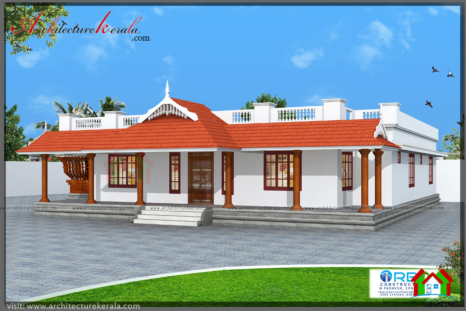 N Traditional Home Elevation Design : Square feet traditional house plan with beautiful