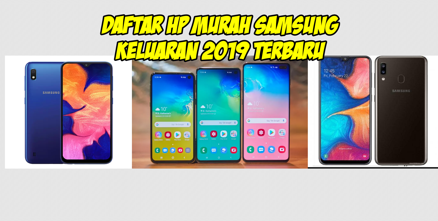 Daftar Harga HP Murah Samsung Terbaru Keluaran 2019