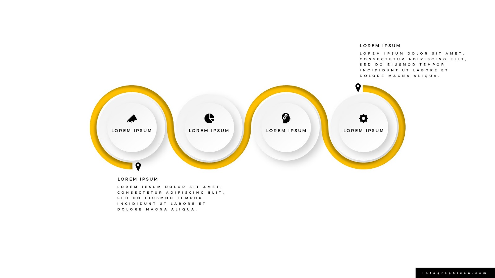 Winding Road Infographics For Powerpoint Infographicon