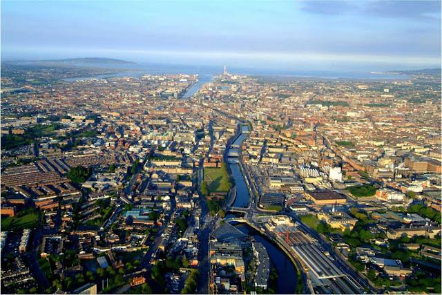 imagem aérea de Dublin – Irlanda
