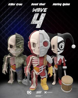 DC Comics XXRAY Dissection Suicide Squad Series 4 Vinyl Figures by Jason Freeny & Mighty Jaxx - Harley Quinn, Deadshot & Killer Croc