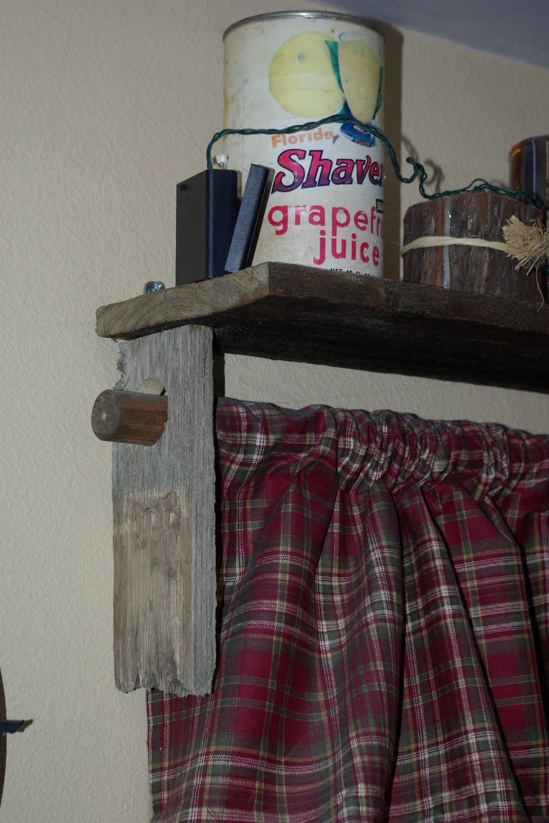 Reclaimed Rustics Barn Wood Window Treatment Shelving