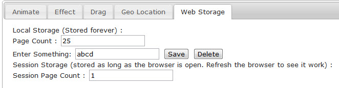 Just another coding blog   : HTML5 - Web Storage and Offline