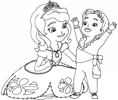 Gambar Mewarnai Putri Sofia - 8