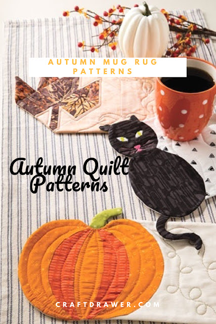 Quilting Patterns Mug Rugs for Autumn