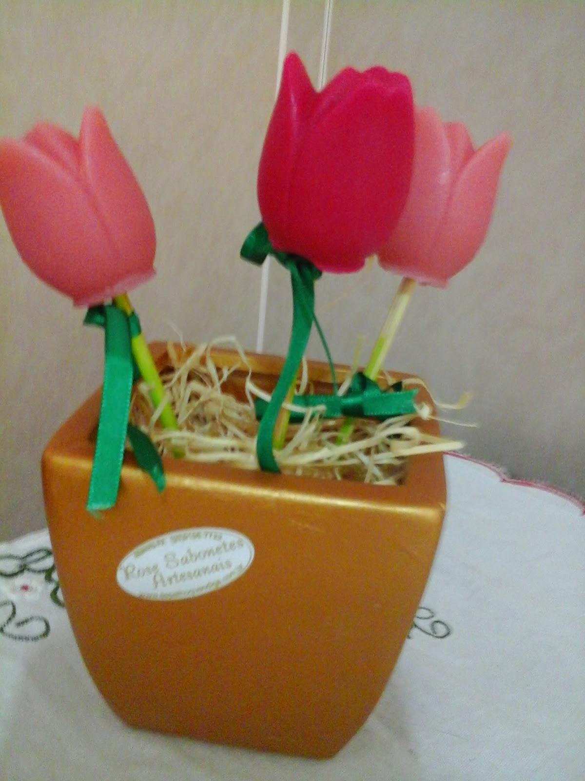 tulipas de sabonete