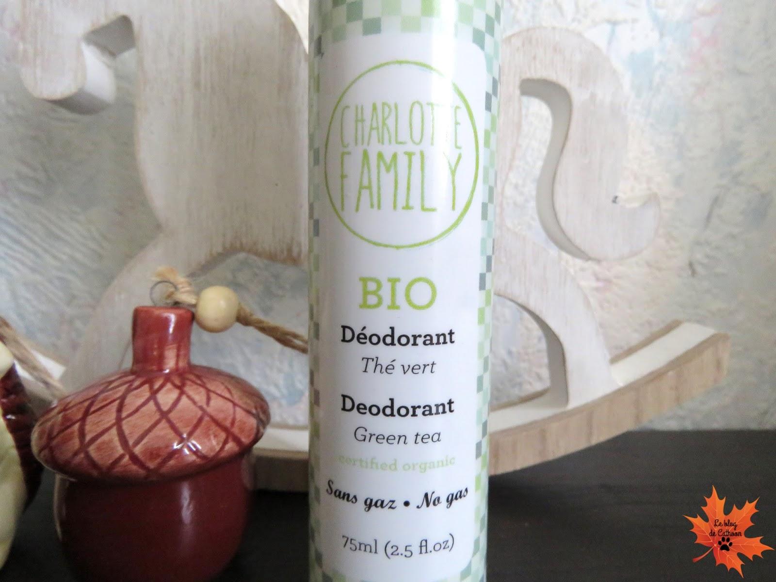 Déodorant Bio Thé Vert - Charlotte Family