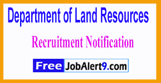 DOLR Department of Land Resources Recruitment Notification 2017 Last Date 30-06-2017