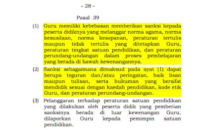 undang undnag perlindungan guru