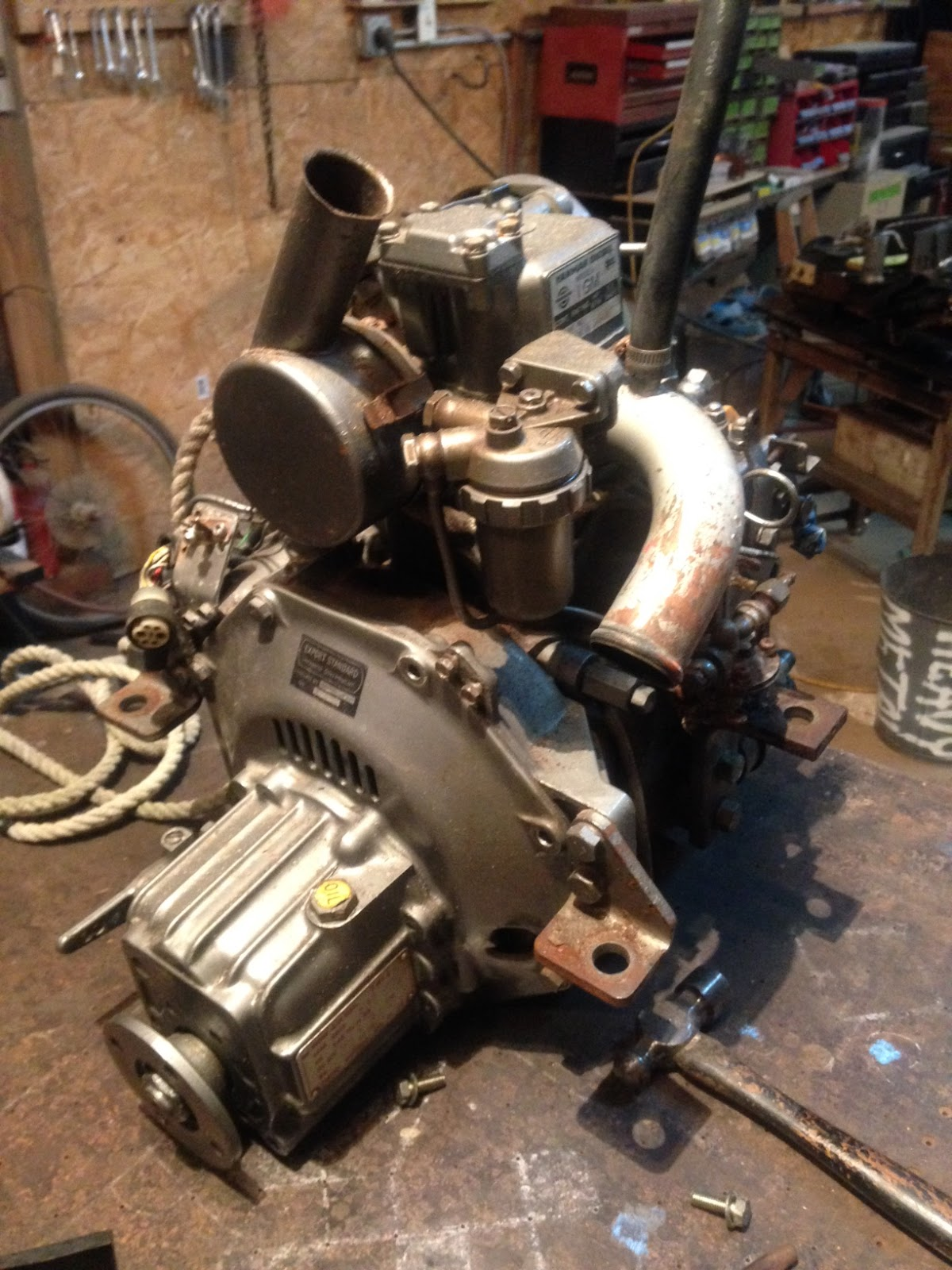 Diy Diesel Injector Maintenance Sailfeed Yanmar 2gm Engine Wiring Diagram 1gm From The 1980s And Since Its Such A Small Light Simple I Decided To Pull Whole Thing Do Partial Rebuild In My Shop