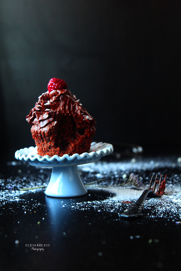 cupcakes de chocolate  y remolacha -kidsandchic